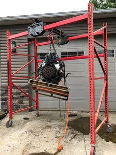 Crane Mobile, Welding Cart, Gantry Crane, I Beam, Trailer Plans, Lift Heavy, Garage Design, Welding Projects, Kustom