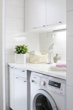 Laundry Closet, Laundry Storage, Laundry In Bathroom, Minimal Bathroom, Washing Machine, Living Spaces, Home Appliances, House, Closets