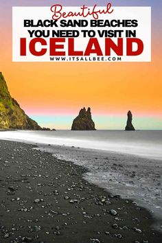Unbelievably stunning black sand beaches of Iceland. These are very much a must see in their own right. Top 10 Iceland beaches with black volcanic sand. #iceland #vik #blacksand #europe #unique #trip #adventure —— black sand beaches of iceland | black beaches of iceland | black sand beaches in iceland | where are the black sand beaches in iceland Iceland Beach, Beach Trip, Beach Travel, Black Sand, Solo Travel, Beautiful Beaches, Adventure Travel, Europe, Sand Beach
