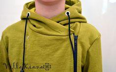 Sivuvetoketjullisen hupparin ompelu - kuvalliset ohjeet