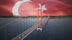 """Cumhurbaşkanı Recep Tayyip Erdoğan ve Başbakan Binali Yıldırım tarafından tamamlandığında """"dünyanın en uzun köprüsü"""" unvanına sahip olacak 1915 Çanakkale Köprüsü'nün ayaklarındaki kule temel betonu atıldı. Öte yandan Erdoğan, projeyi havadan etraflıca inceledi. Peki, 1915 Çanakkale Köprüsü nasıl olacak? İşte 1915 Çanakkale Köprüsü ile ilgili detaylar ve projeden fotoğraflar.."""