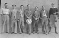 1930s Men's fashion - Daytime suits and athletic sportswear