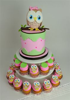 Owl first birthday cake by Design Cakes, via Flickr