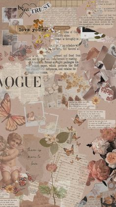Vintage aesthetic collage