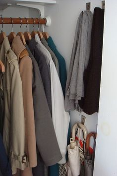 Coat Closet, like the hooks on the side for purses and umbrellas