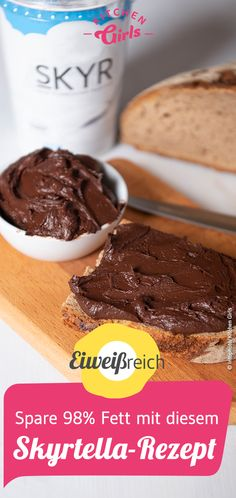 Recipe for Skyrtella: this saves you of the calories compared to Nutella Es . - Recipe for Skyrtella: this saves you of the calories compared to Nutella eating and drinking - Healthy Protein Snacks, Protein Desserts, Protein Shake Recipes, Protein Foods, Healthy Dessert Recipes, Health Desserts, Low Carb Recipes, Snack Recipes, Keto Snacks