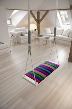 swing at home...I would love it.  I would love to have that room and space!