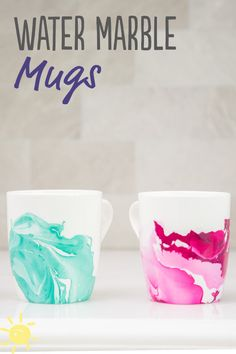 DIY: How to Water Marble with Nail Polish - (Only 2 Ingredients!) #water #marble #mug #diy #craft