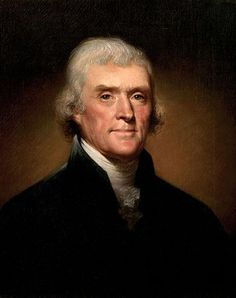 Official White House Portrait of Thomas Jefferson (by Rembrandt Peale, 1800) ~ 3rd President of the United States. (Term: 1801-1809) Thomas Jefferson was an American Founding Father, the principal author of the Declaration of Independence and a Democratic Republican.  He was a spokesman for democracy and the rights of man with worldwide influence.  His most noteworthy achievement was the Louisiana Purchase of 1803.