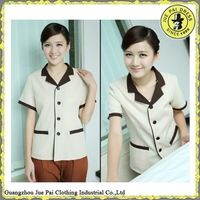 Cheap price Tailored hotel cleaning staff uniform