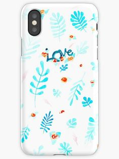 'Blue Love' iPhone Case by MariArt-World Iphone Wallet, Iphone 11, Iphone Cases, Semi Transparent, Canvas Prints, Art Prints, Love S, Hand Lettering, Contrast