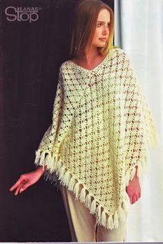 Ideas para el hogar: Ponchos y capas en crochet