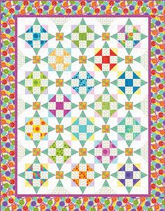 I love this pattern.  $1.99 or download for free.  I don't think there are any curved pieces--it's just an illusion!