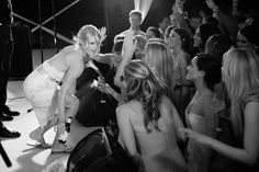 The Bride on Stage- Black and White Photo by Donna Von Bruening #wedding #photography #southernwedding