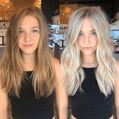 Glow baby glow ☀️ Hair by Sara May 💁🏼✨ Blonde Hair Shades, Blonde Hair Looks, Blonde Hair With Highlights, Platinum Blonde Hair, Blonde Foils, Light Blonde Hair, Color Highlights, Light Hair, Cheveux Beiges