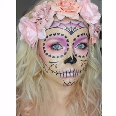 sugar skull face paint - Google Search