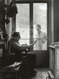 * Arletty avec Louis-Ferdinand Céline, 14 avril 1958 photo Luc Fournol