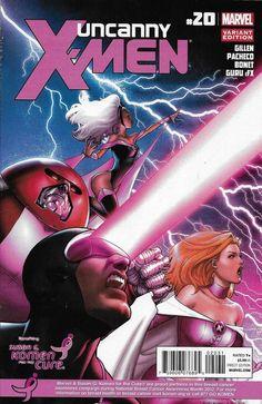 Uncanny X-men Comic Issue 20 Limited Variant Gillen Pacheco Bonet Guru Efx 2012 Comic Art, Comic Book, Comic Covers, X Men, Pretty In Pink, Marvel Comics, The Cure, Book Stuff, Marvel Universe