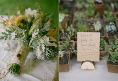 Long Island NY Farm Wedding: Succulent if outside, book if literary theme