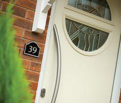 Replacement UPVC & Aluminium Windows & Doors from Micron Home Improvements Composite Front Door, Class Door, Roof Lantern, Windows And Doors, Front Doors, Door Stop, Modern Contemporary, Composition, Mirror