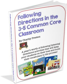 Classroom Freebies: FREE Following Directions in the 3-5 Common Core Classroom Sample