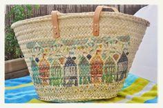 Monica Gars Capazo de palma hecho a mano/ Wicker beach basket/ www.monicagars.com