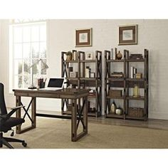 Wildwood Bookcase/Room Divider in Rustic Gray