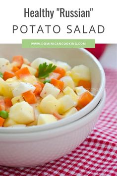 A great substitute for our traditional stodgier one, this potato salad is lighter and much healthier all around. #potatosalad #potatosaladrecipe #dominicanrecipe #dominicancooking #simplebyclara @SimpleByClara | dominicancooking.com Salad Recipes Video, Salad Recipes For Dinner, Dinner Recipes For Kids, Healthy Salad Recipes, Soup Recipes, Healthy Snacks, Recipe Videos, Lunch Recipes, Yummy Recipes