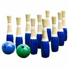 12 Piece Lawn Bowling Set in Blue