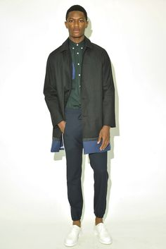 One can always expect a youthful vibe from Timo Weiland, and the spring collection didn't stray too far from the oeuvre of designers Timo Weiland, Donna Kang and Alan Eckstein. Timo Weiland, Rain Jacket, Bomber Jacket, Spring Summer 2016, Ss16, Spring Collection, Fashion News, Windbreaker, Presentation