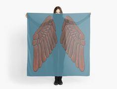 Leather Owl Wings on Scarf by Imogen Smid - Fashion Design, Fashion Accessories, Shawl, Greek Mythology, Owl, Redbubble