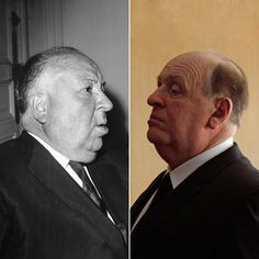 Anthony Hopkins as Alfred Hitchcock. Hard to tell apart, right? See how the special effects makeup artists from the film #Hitchcock transformed Hopkins into Hitchcock.