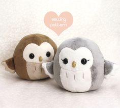 "Plushie sewing pattern PDF - Pygmy Owl cute soft plush toy - cuddly stuffed animal 4.5"" by TeacupLion on Etsy https://www.etsy.com/listing/181672835/plushie-sewing-pattern-pdf-pygmy-owl"