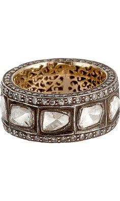 Munnu Rose Cut Diamond Criss Cross Ring