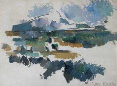 Paul Cézanne - La Montagne Sainte-Victoire, vue de Lauves