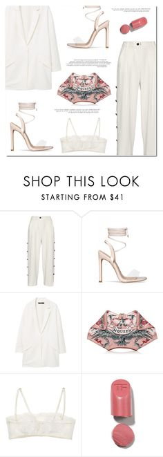 """""""Sanla"""" by marinelatadic ❤ liked on Polyvore featuring Maiyet, MANGO, Alexander McQueen and La Perla"""