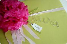 wire words to embellish packages. i shall be trying this VERY soon!