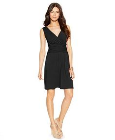 INC International Concepts Sleeveless Ruched-Waist Dress - INC International Concepts - Women - Macy's