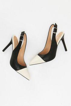 d6a19f13bad98f Black Toecap High Heel Court Shoe - High Heels - Shoes