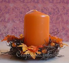 Cute for inexpensive table decorations -Google Image Result for http://www.craftideas.info/assets/images/Fall_Mini_Grapevine_Wreath_for_Candles.jpg
