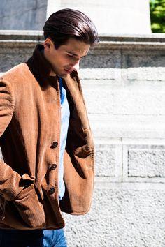 MAN ABOUT TOWN #Doppiaa #Jacket #Sweatshirt #AcneStudios #trousers #look #menswear