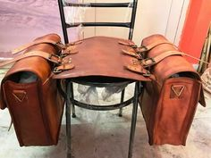 2 Bags Motorcycle 2 Pouch Brown Leather 2 Side Saddlebags Saddle Panniers New by AntikIsrael on Etsy Leather Backpack Pattern, Best Leather Backpack, Vintage Leather Backpack, Team Usa, Leather Motorcycle Saddlebags, Cowhide Leather, Brown Leather, Leather Bags Handmade, Leather Projects