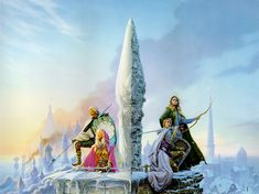 Michael Whelan's amazing art for To Green Angel Tower Medieval Fantasy, Sci Fi Fantasy, Tad Williams, Science Fiction, Fantasy Literature, The Dark Tower, Sci Fi Art, Story Inspiration, Cover Art