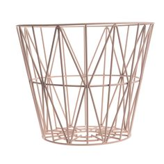 Best wire baskets *ever*. Ferm living, Wire basket (rose, black, or yellow Metal Baskets, Large Baskets, Storage Baskets, Wire Basket, Square Baskets, Laundry Baskets, Wire Storage, Design Online Shop, Design Shop