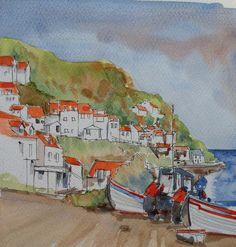 John Harrison, The Artist's Way, North Yorkshire, Line Drawing, Watercolor Paintings, Watercolors, Coast, Explore, Drawings