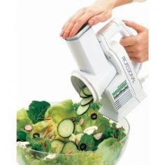 Salad Shooter Electric Slicer Shredder creates all your favorite salad ingredients all chopped up in seconds. Make everything from salads to hash...
