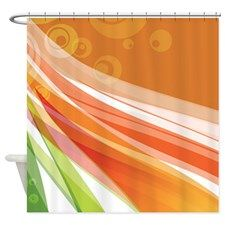 Abstract Waves Design Shower Curtain
