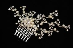Bridal Hair comb Freshwater Pearl and by PowderBlueBijoux on Etsy, $69.00