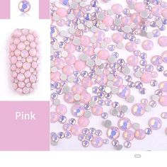 Beads Clear White Ss8 Point Back Rhinestones Gems Glass Chatons Strass Nail Art Craft Gems Beads & Jewelry Making