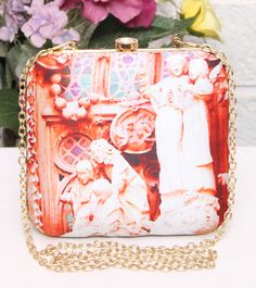 Orange Angels Curved Clutch #indianroots #ethnicwear #accessories #bags #clutch